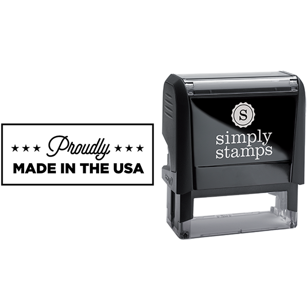 Proudly Made in the USA Business Stamp