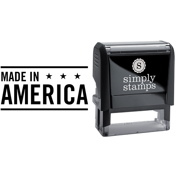 Made in America with Stars Business Stamp