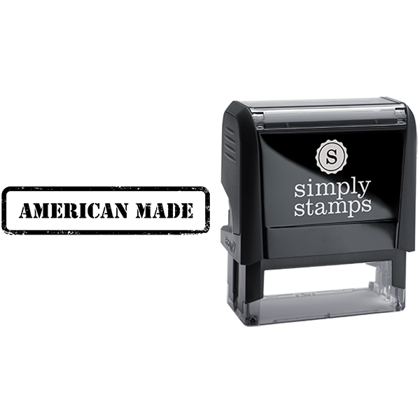 American Made in Army Stamp Lettering Business Stamp