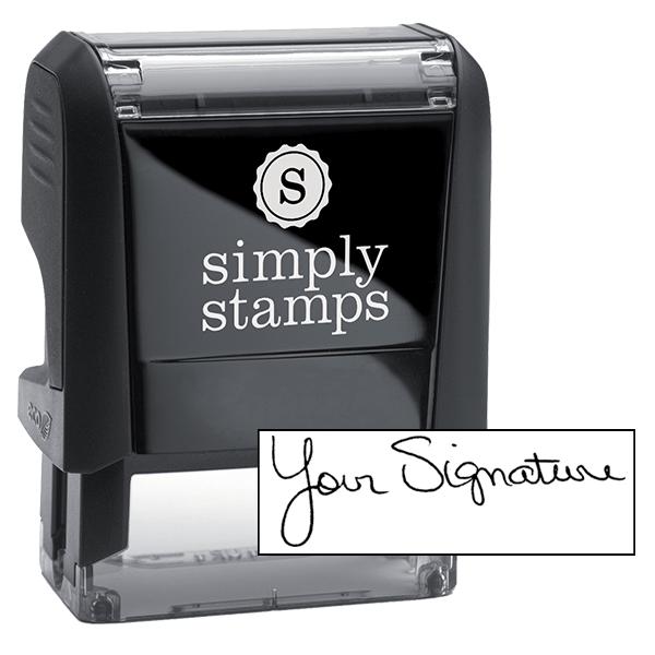 Self-Inking Signature Stamp